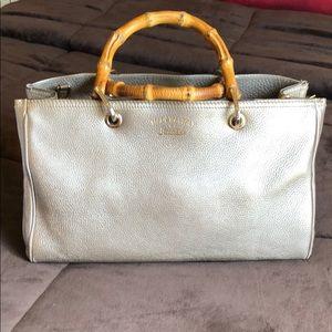 Gucci metallic beige bag